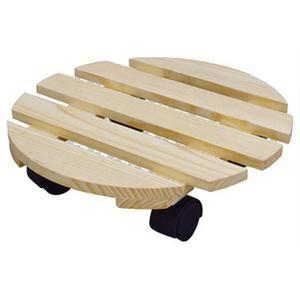 木质移动花盆托盘