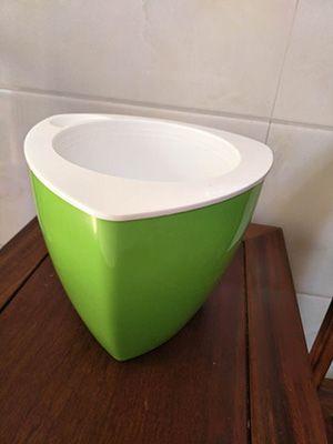 绿色三角花盆
