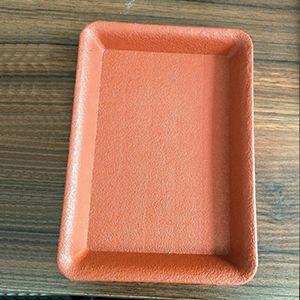 陶土色盆托
