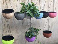 塑料彩色花盆